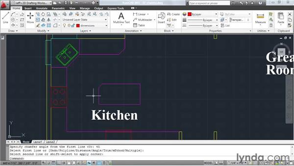 Creating chamfers: AutoCAD 2011 Essential Training