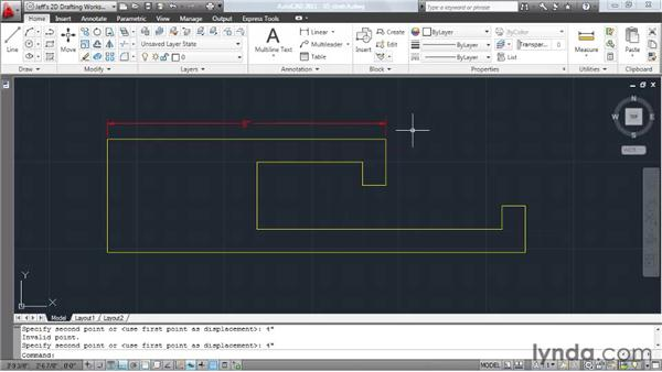 Stretching elements: AutoCAD 2011 Essential Training