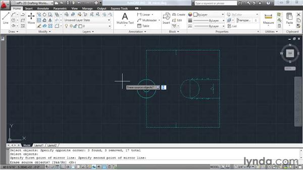 Creating mirrored copies: AutoCAD 2011 Essential Training