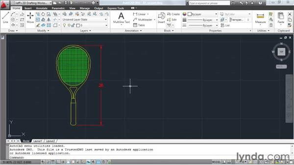 Scaling elements: AutoCAD 2011 Essential Training