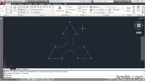 Joining elements together: AutoCAD 2011 Essential Training