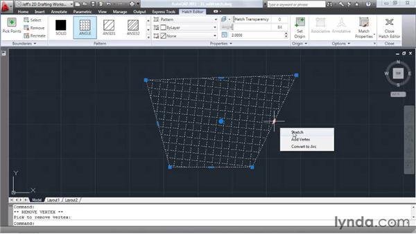 Editing hatch patterns: AutoCAD 2011 Essential Training