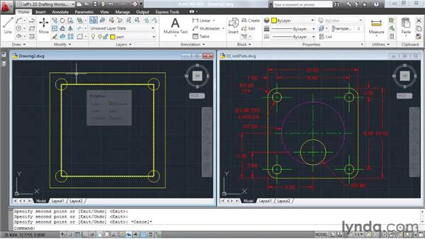 Using layers to organize a drawing: AutoCAD 2011 Essential Training