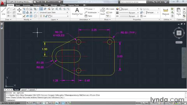 Changing popular settings using the layer control: AutoCAD 2011 Essential Training