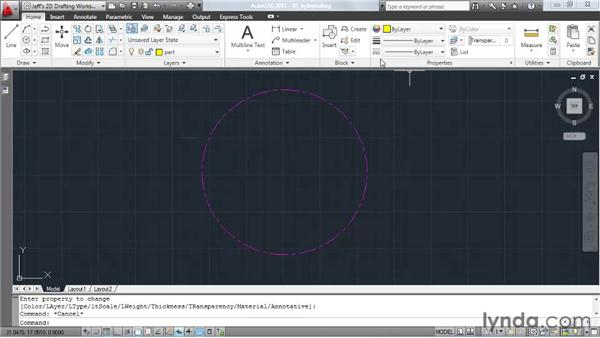Understanding the BYLAYER property: AutoCAD 2011 Essential Training