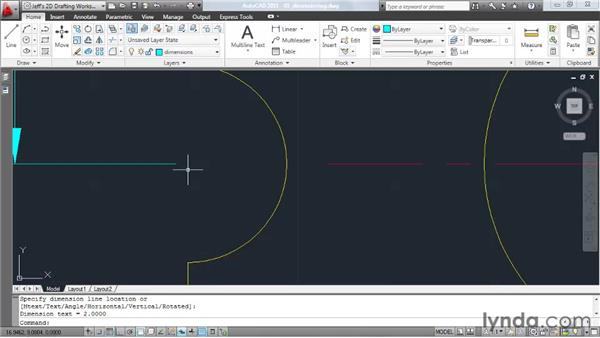 Creating general dimensions: AutoCAD 2011 Essential Training