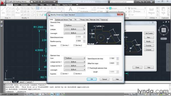 Controlling appearance using dimension styles: AutoCAD 2011 Essential Training