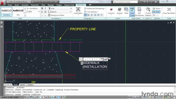 Creating multileaders: AutoCAD 2011 Essential Training