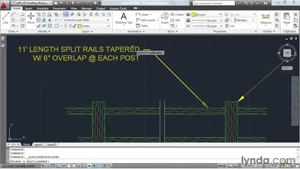 Modifying multileaders: AutoCAD 2011 Essential Training