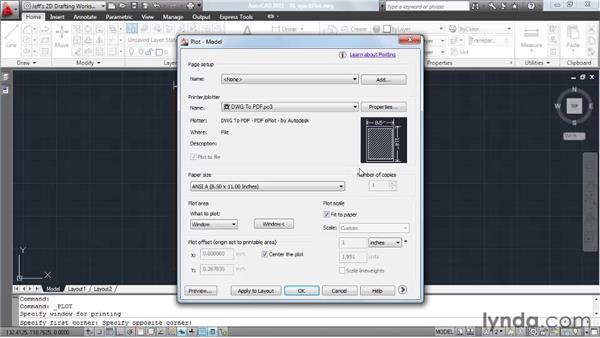 Creating quick plots: AutoCAD 2011 Essential Training