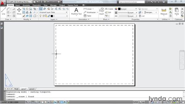 Creating a layout, pt. 1: Choosing a paper size: AutoCAD 2011 Essential Training