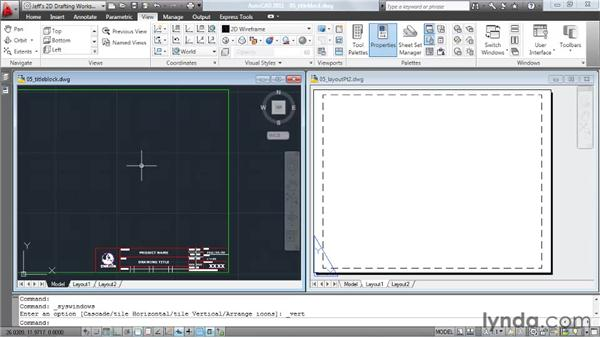 Creating a layout, pt. 2: Inserting a title block: AutoCAD 2011 Essential Training