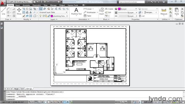 Organizing layouts: AutoCAD 2011 Essential Training
