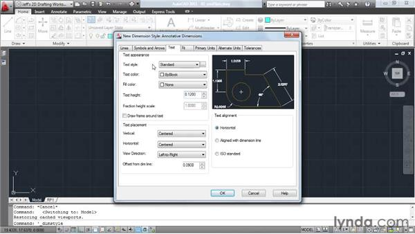 Using the Annotative property to automatically size dimensions: AutoCAD 2011 Essential Training