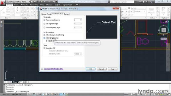 Using the Annotative property to automatically size multileaders: AutoCAD 2011 Essential Training