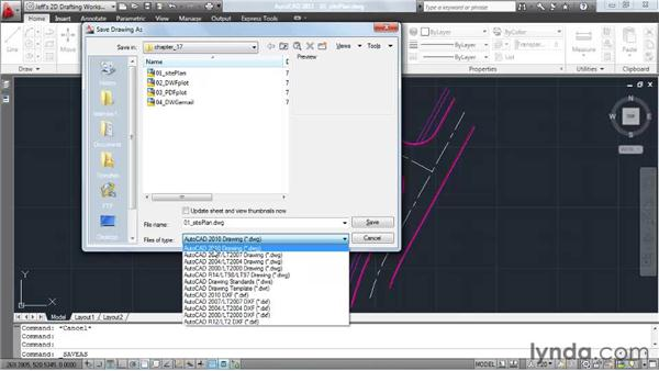 Saving drawings to other formats: AutoCAD 2011 Essential Training
