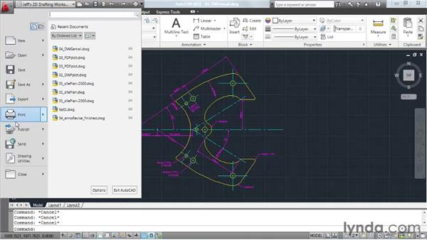 Sending drawings via email: AutoCAD 2011 Essential Training