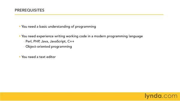 Understanding prerequisites for Python: Python 3 Essential Training