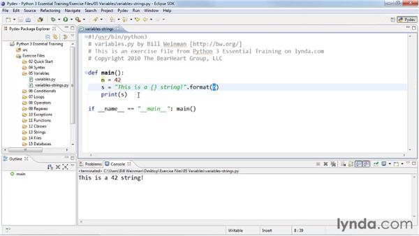 Using strings: Python 3 Essential Training