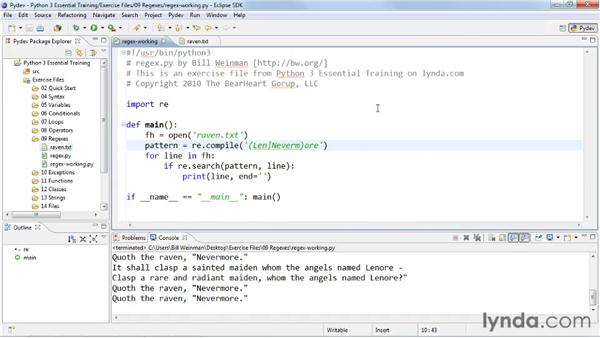 Reusing regular expressions with re.compile: Python 3 Essential Training