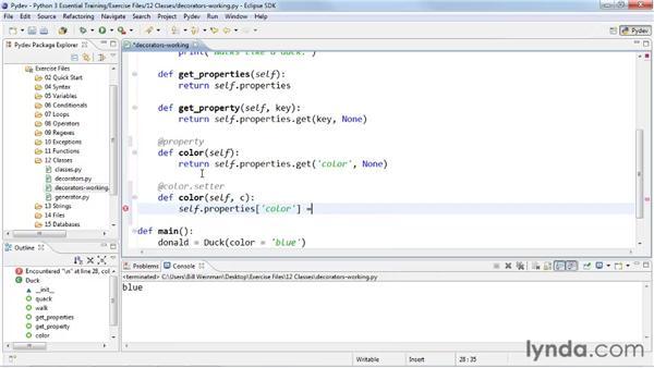Using decorators: Python 3 Essential Training