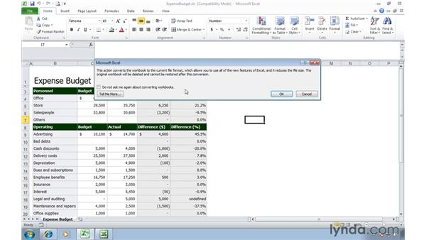 Converting older spreadsheets to Excel 2010: Migrating from Excel 2003 to Excel 2010