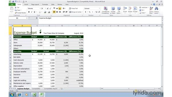 Managing Excel 2003 files in Compatibility Mode: Migrating from Excel 2003 to Excel 2010