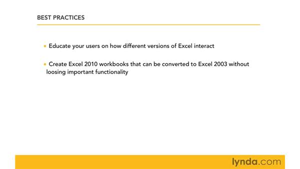 Best practices for managing files in a mixed environment: Migrating from Excel 2003 to Excel 2010