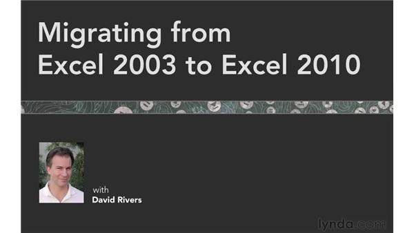 Goodbye: Migrating from Excel 2003 to Excel 2010