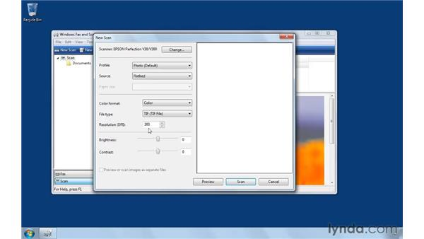 Scanning a document: Computer Literacy for Windows 7