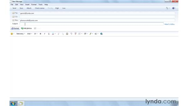 Composing new email messages: Computer Literacy for Windows 7