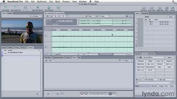 Round-tripping from Final Cut Pro to Soundtrack Pro with an audio project file: Final Cut Studio: Round-Tripping