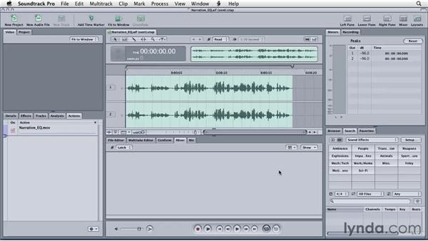 Using Soundtrack Pro to match EQ: Final Cut Studio: Round-Tripping