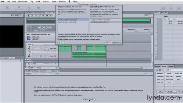 Reconforming a multitrack project if the edit changes in Final Cut Pro: Final Cut Studio: Round-Tripping