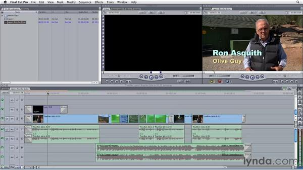Preparing the Final Cut Pro timeline for Color: Final Cut Studio: Round-Tripping
