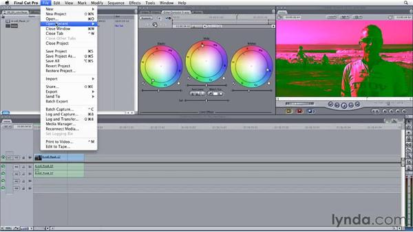 Refining Final Cut Pro three-way corrections in Color: Final Cut Studio: Round-Tripping