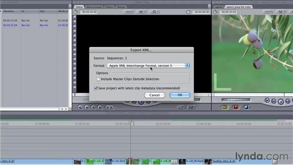 Reconforming a Color project if the edit changes in Final Cut Pro: Final Cut Studio: Round-Tripping