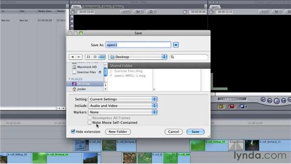 Refining the process using a QuickTime reference movie: Final Cut Studio: Round-Tripping