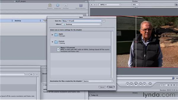 Automating compression with custom setting and droplets: Final Cut Studio: Round-Tripping