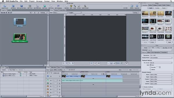 Making a still menu with over-states from a freeze frame: Final Cut Studio: Round-Tripping