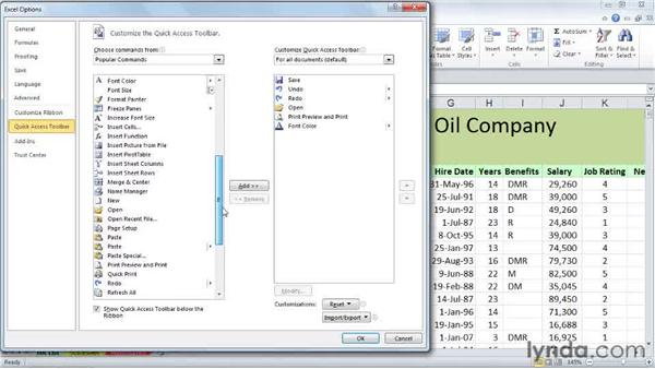 Quick Access toolbar display tips: Excel 2010 Power Shortcuts
