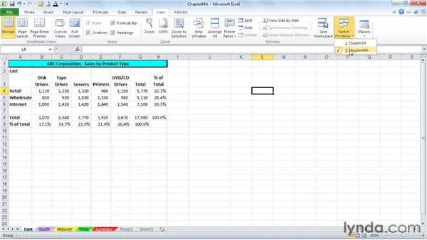 Navigation shortcuts: Excel 2010 Power Shortcuts