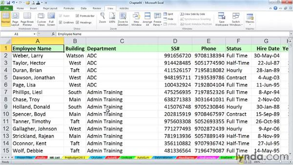 Navigating within worksheets: Excel 2010 Power Shortcuts