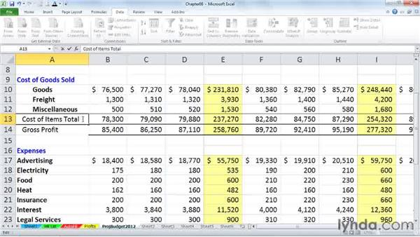 Cell editing tips: Excel 2010 Power Shortcuts