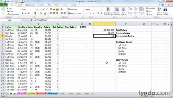 Rapid formula creation : Excel 2010 Power Shortcuts
