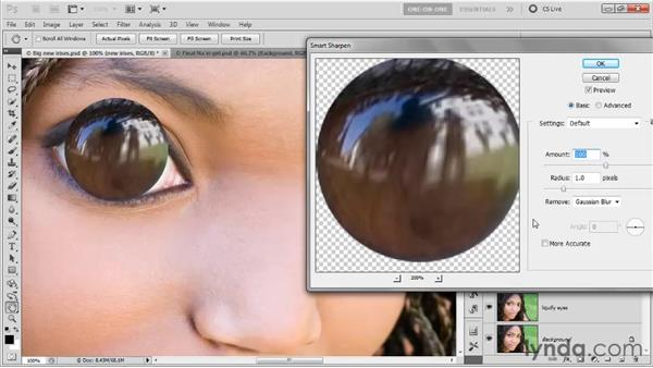 Sharpening details to match: Photoshop CS5 One-on-One: Advanced