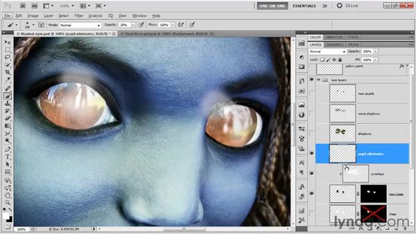Working with clipping-mask layers: Photoshop CS5 One-on-One: Advanced