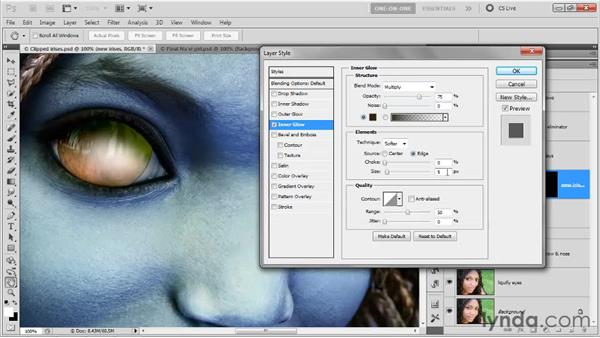 Shading with layer effects: Photoshop CS5 One-on-One: Advanced