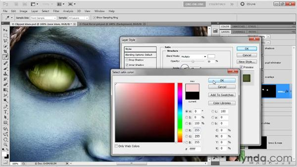 Color and highlight effects: Photoshop CS5 One-on-One: Advanced