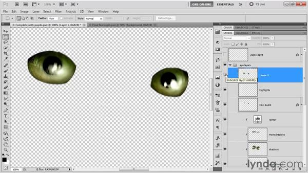 Using a merged copy to sharpen: Photoshop CS5 One-on-One: Advanced